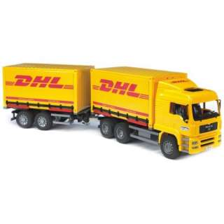 Bruder Man DHL Truck with Trailer Toys & Games
