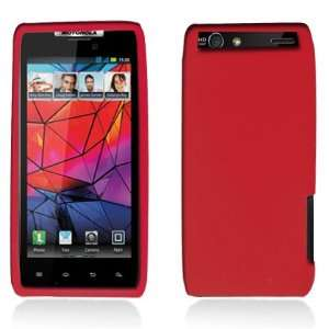 Red Soft Silicone Skin Gel Cover Case for Motorola Droid
