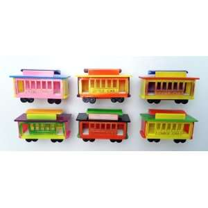 Cable Car   Refrigerator Bobble Magnet (Set of 6)  Kitchen