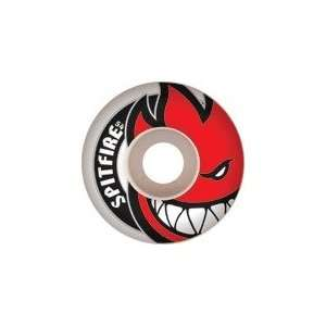 Spitfire Bighead White / Red Skateboard Wheels   59mm 99a