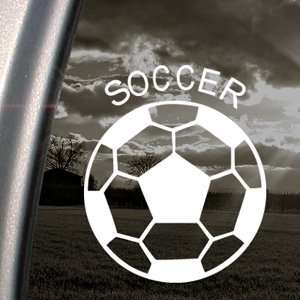 Soccer Ball Futbol Decal Car Truck Window Sticker