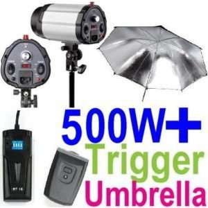 500W Professional Photography Studio Strobe Flash Light Kit   2 Strobe
