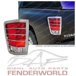 NISSAN TITAN 04 05 06 07 08 CHROME TAIL LIGHT COVER