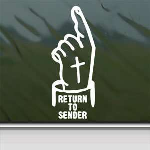 Return To Sender White Sticker Car Vinyl Window Laptop