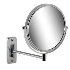 Geesa 1075 Wall Mounted Chrome Round 5x Magnifying Mirror 1075 Beauty