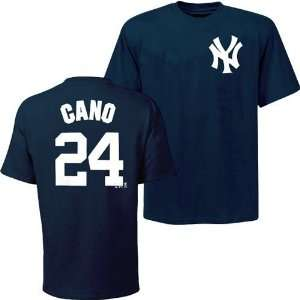 New York Yankees Robinson Cano Name & Number T Shirt (Navy