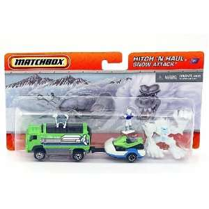 Matchbox Hitch N Haul Snow Attack Truck, Bigfoot, Dog Team