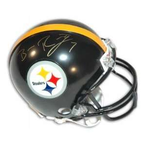 Ben Roethlisberger Autographed/Hand Signed Pittsburgh Steelers Mini