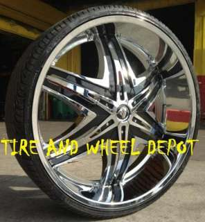 22 INCH DIABLO ELITE RIMS AND TIRES CADILLAC MUSTANG ALTIMA MAXIMA FWD