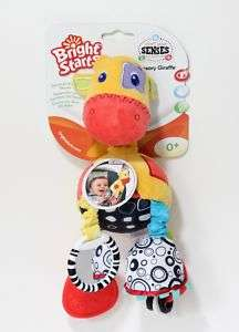 New Bright Starts Plush Giraffe Baby Rattle Teether Toy