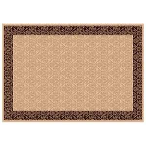 Dynamic Rugs Radiance Collection 47 x 24 Hearth Rug Creme