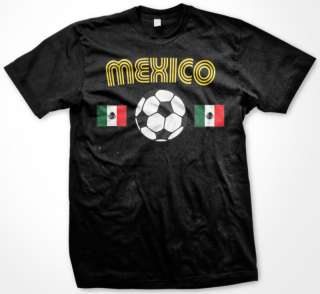 Mexico Mexican Flag Soccer Tees Womens Ladies T Shirt