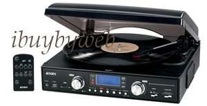 Jensen JTA 460 Record Player Turntable Record To USB FLash/SD +Built