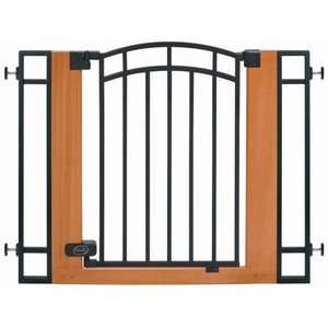 Summer Infant Black Metal & Wood Walk Thru Gate NEW
